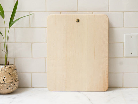Jacob May Cutting Board - Bleached Maple w/o Strap