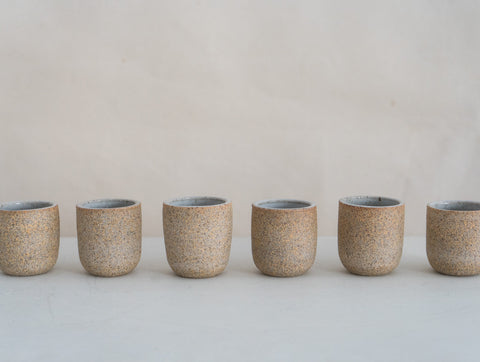 Stoneware Copita Soft Flecked Grey / Natural Clay