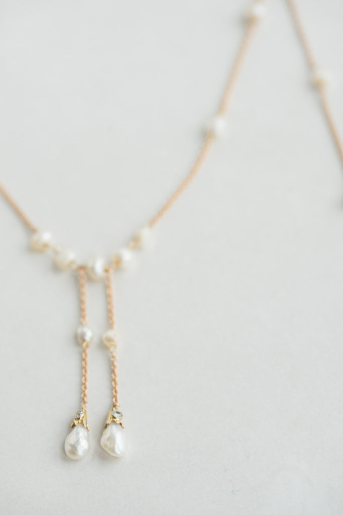 1920s Natural Pearl & Diamond Necklace