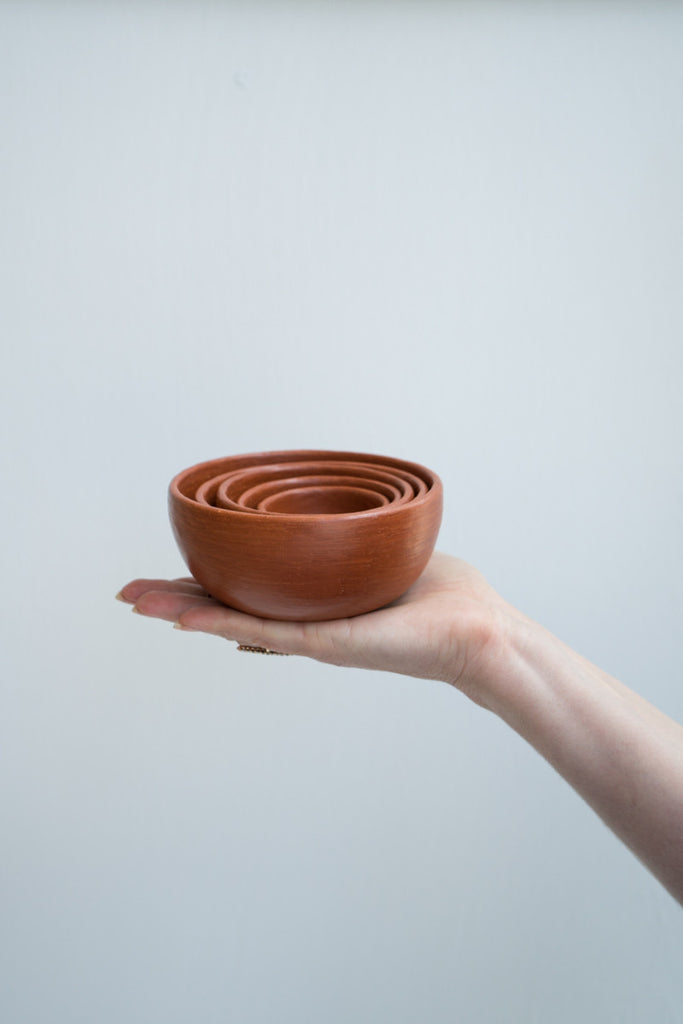 Oaxacan Red Clay Nested Bowls