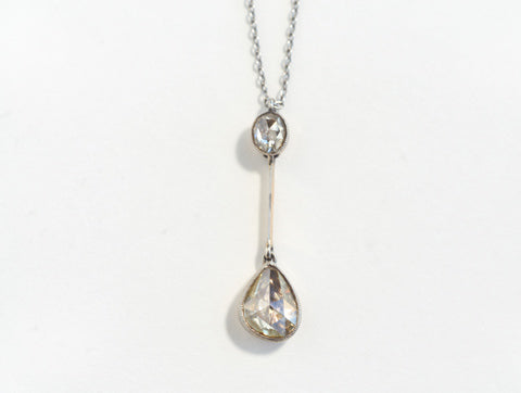 Antique Rose Cut Diamond Pendant & Necklace