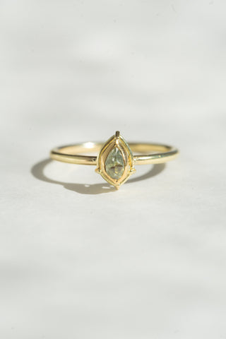 Tura Sugden Rough Green Diamond Solitaire