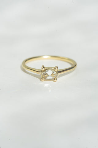 Tura Sugden Rose Cut Diamond Solitaire Ring