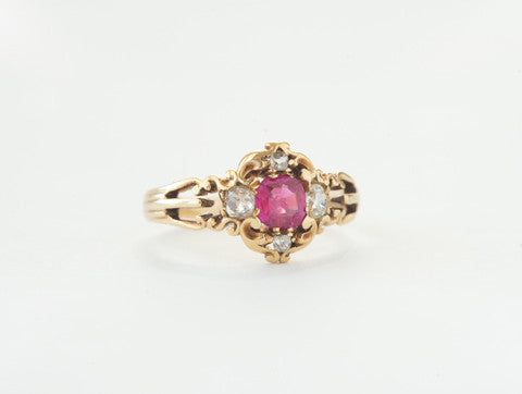 Victorian Diamond & Ruby Ring