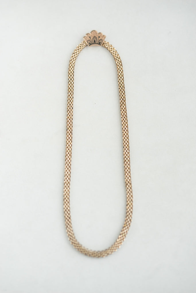 14k Victorian Gold & Enamel Necklace
