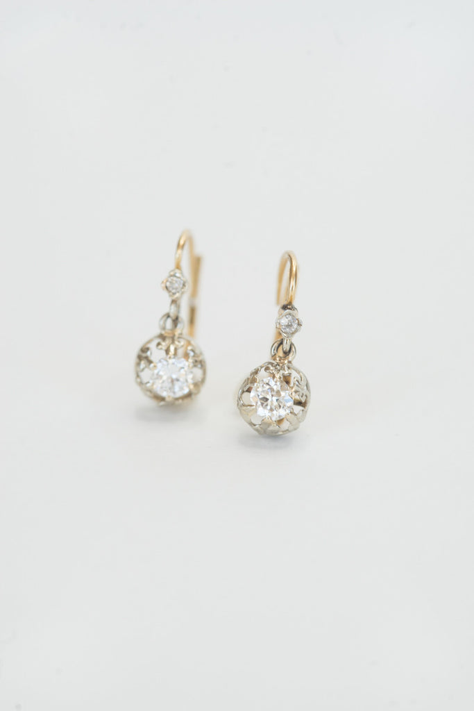 Antique French Diamond Earrings