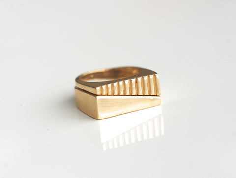 Vintage Modern 14k Stacking Ring Set
