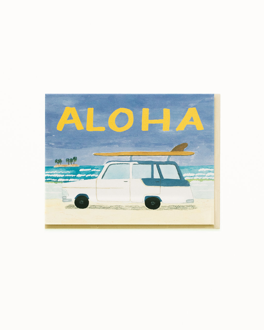 Surf Car Aloha Card