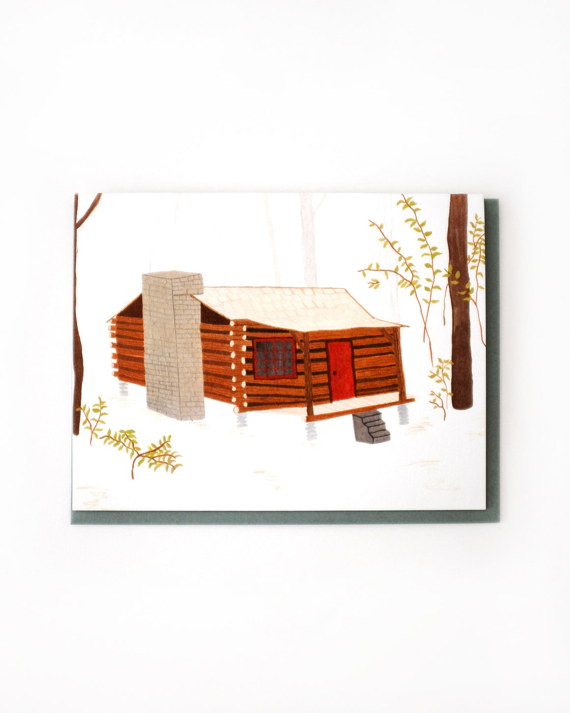 Log Cabin Card