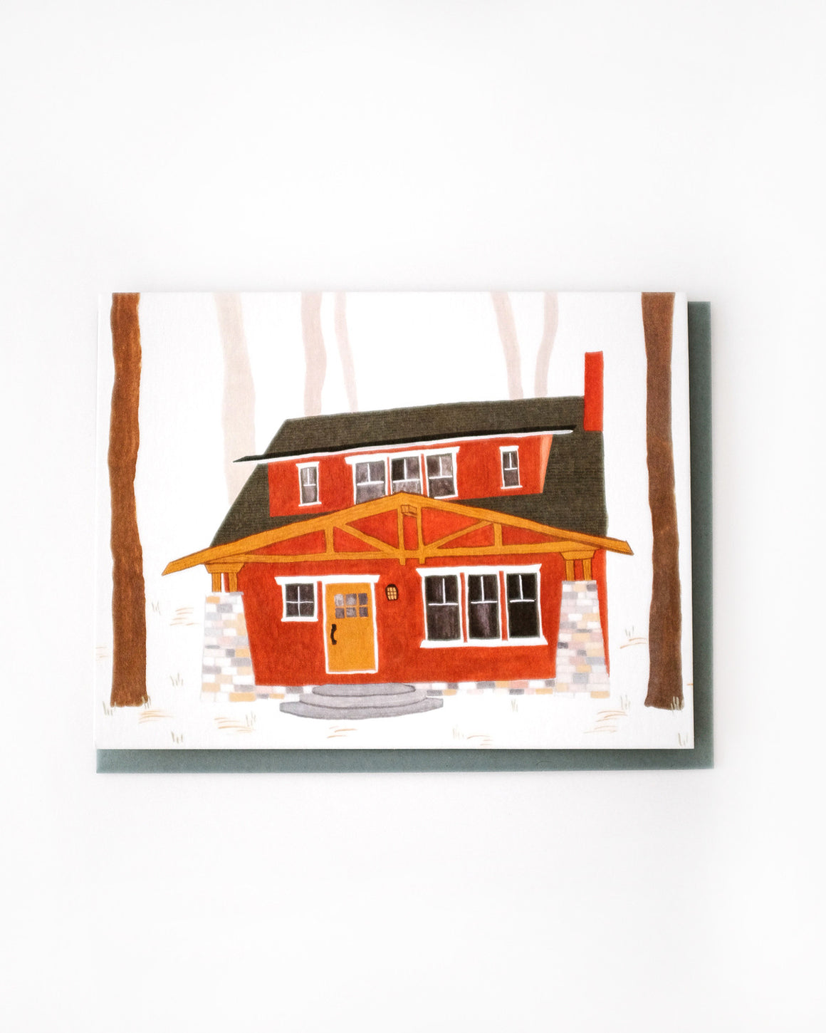 Craftsman Cabin Card