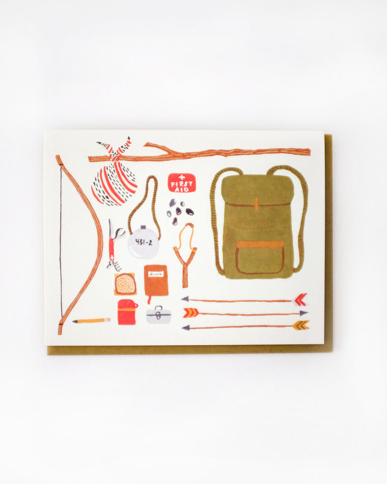 Backpacking Card