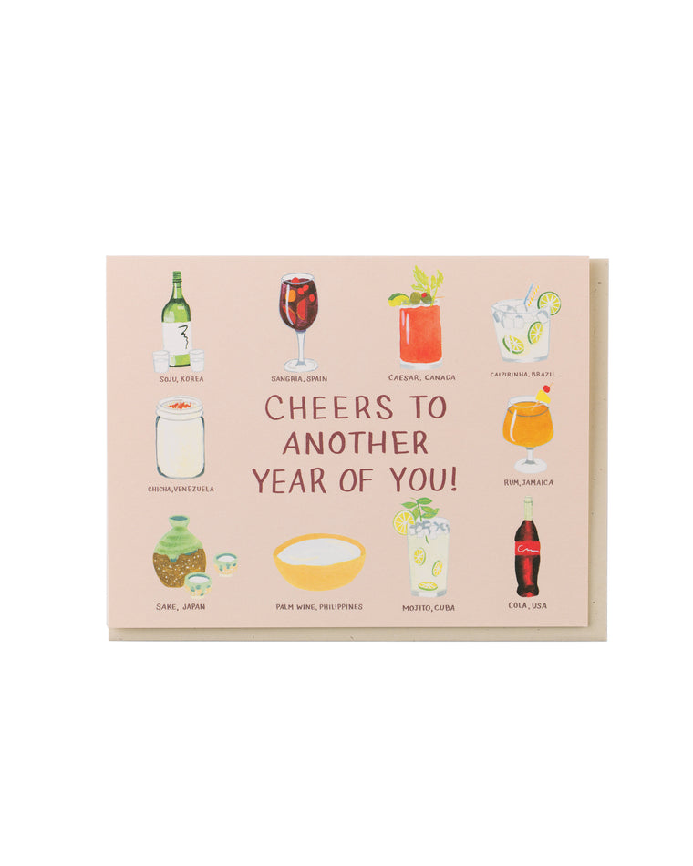 Birthday Drinks of the World Card