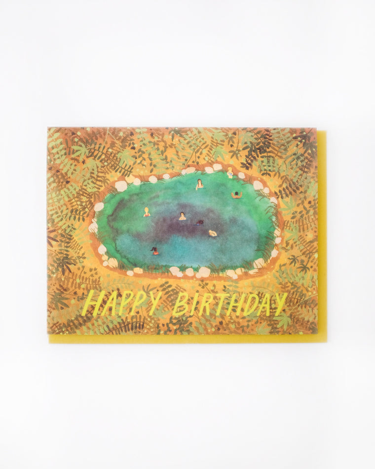 Happy Birthday Hot Springs Card