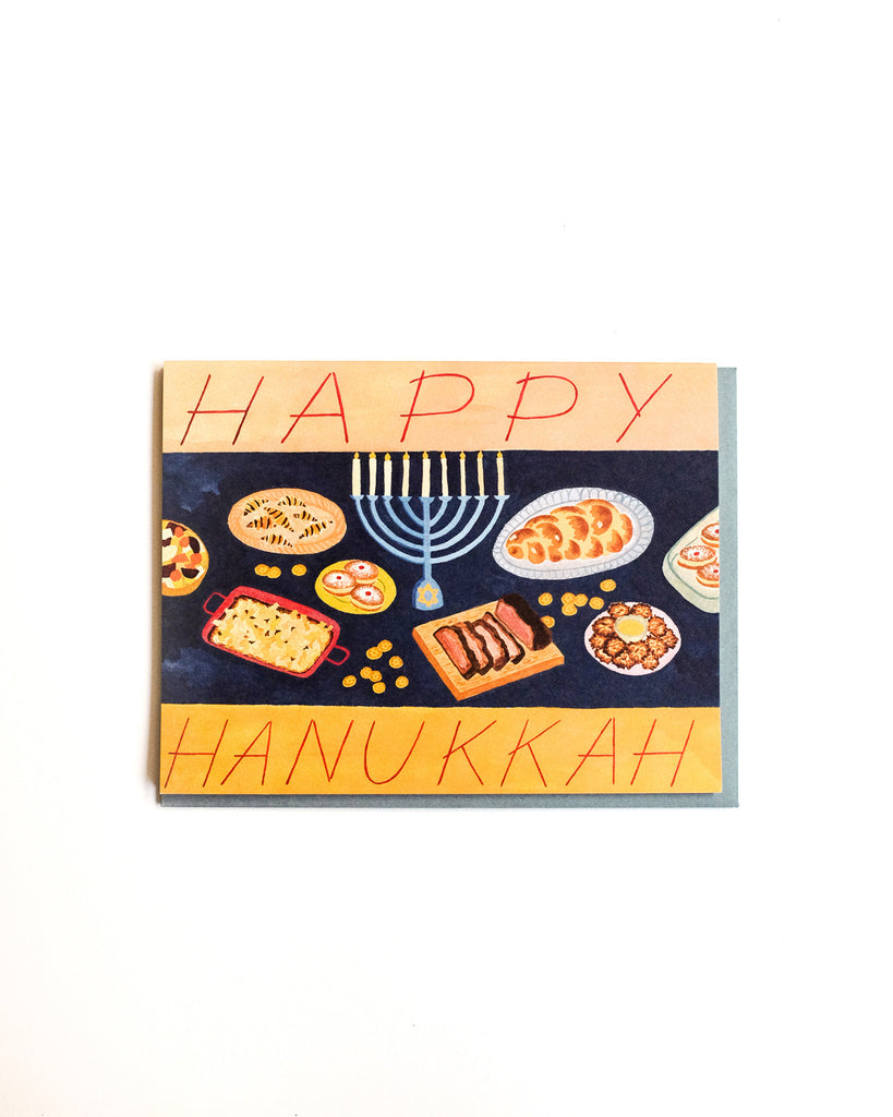 Hanukkah Feast Card