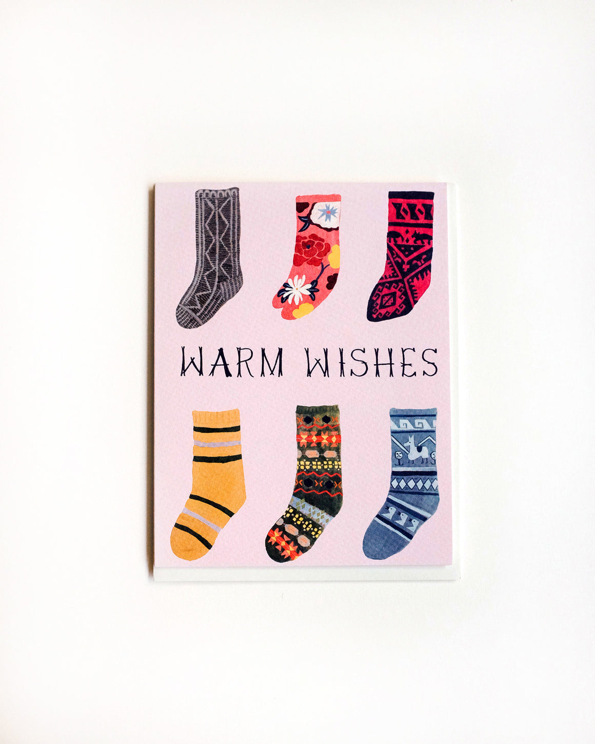 Warm Wishes Socks Card