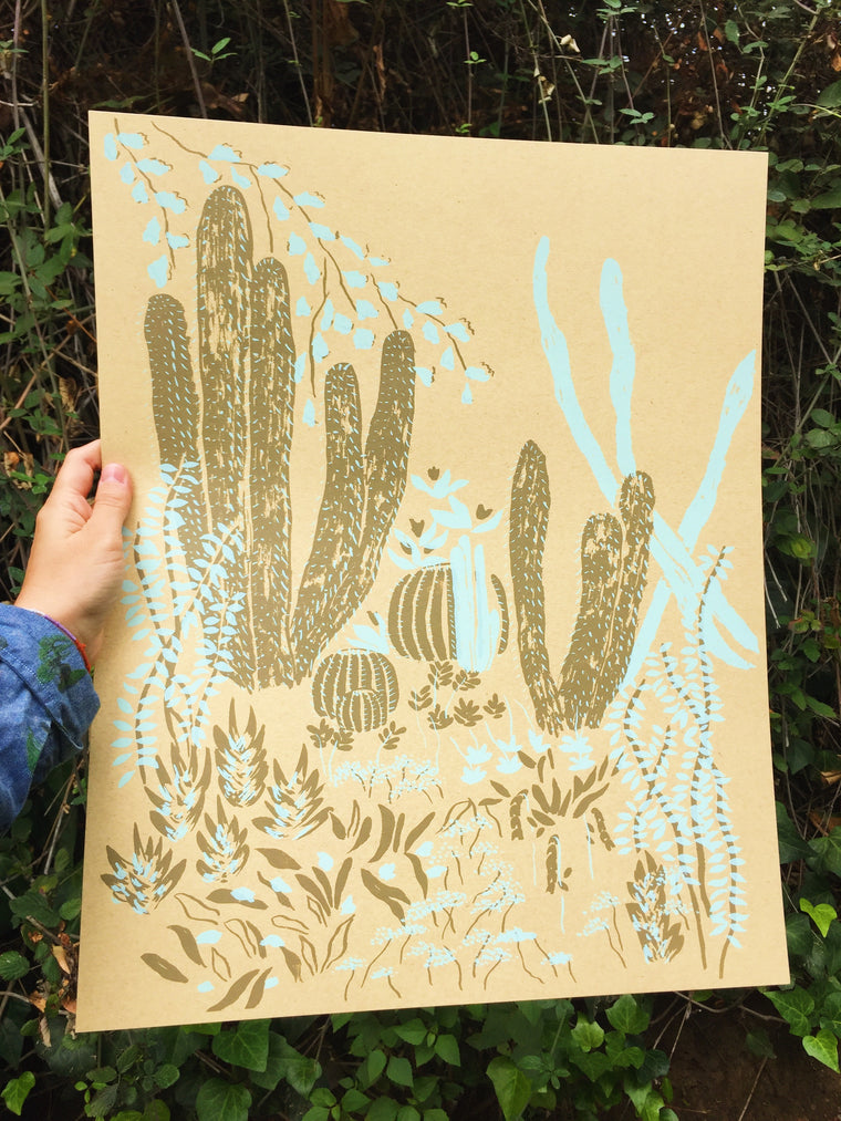 Cacti Vignette Screen Print Limited Edition