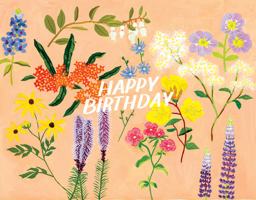 Pink Floral Birthday Card Small Adventure
