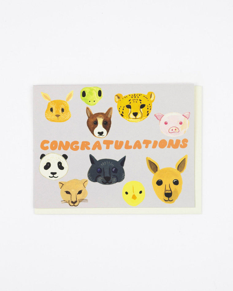 Baby Animals Congrats Card