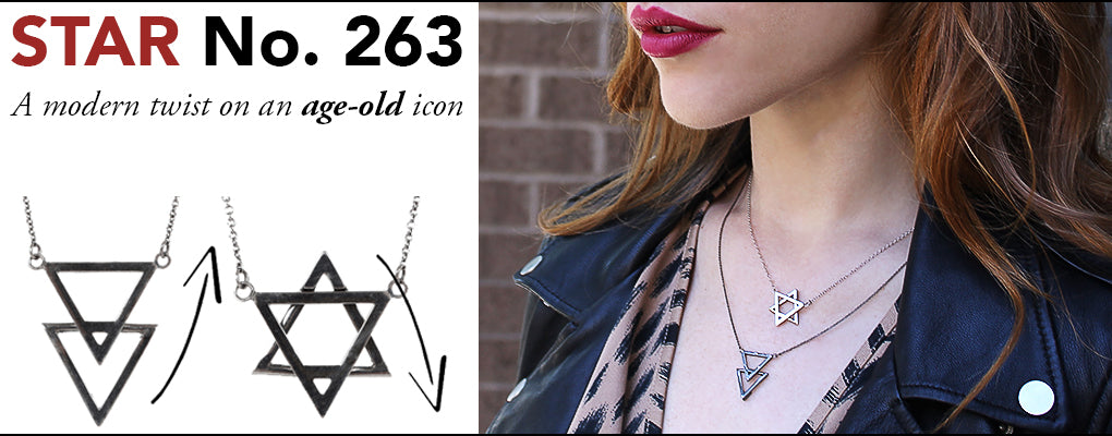 Star No. 263, Star of David Necklace, Triangle Necklace