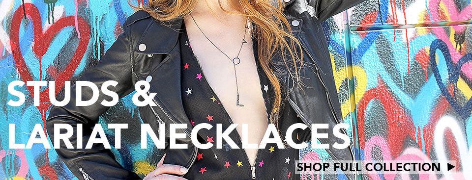 Amazing gift items like stud necklaces and love lariat necklaces