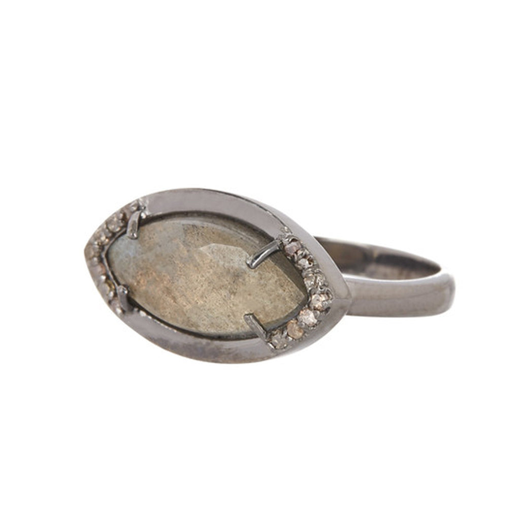 Mini Marquis Ring labradorite