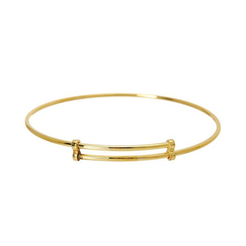 Adjustable Bangle Bracelet silver gold