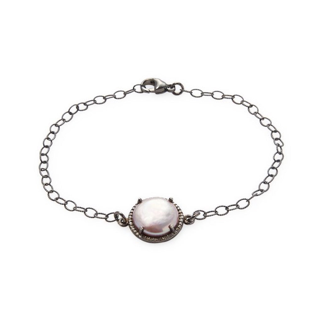 Pearl Halo bracelet diamond