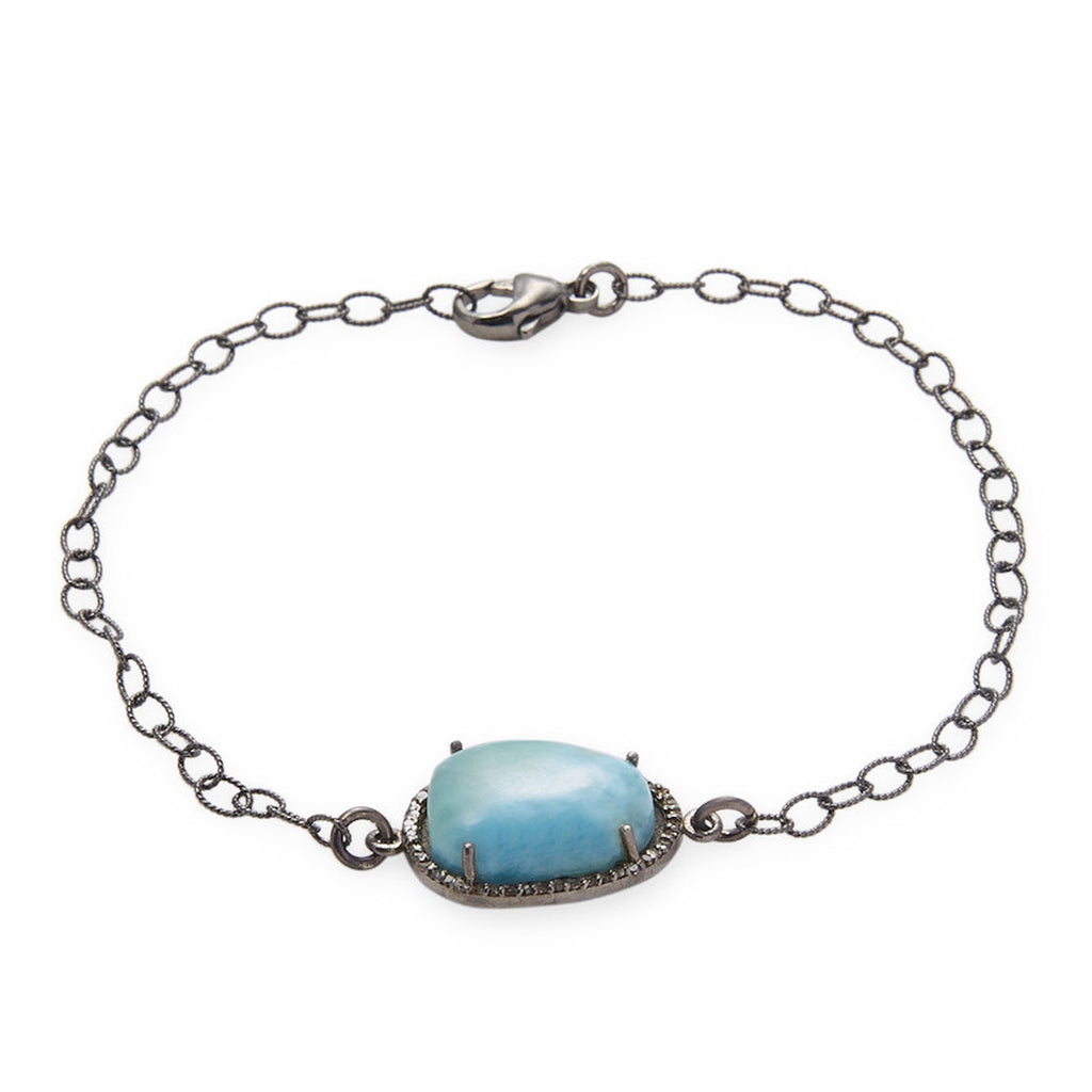 bracelet products diamond halo b larimar adornia