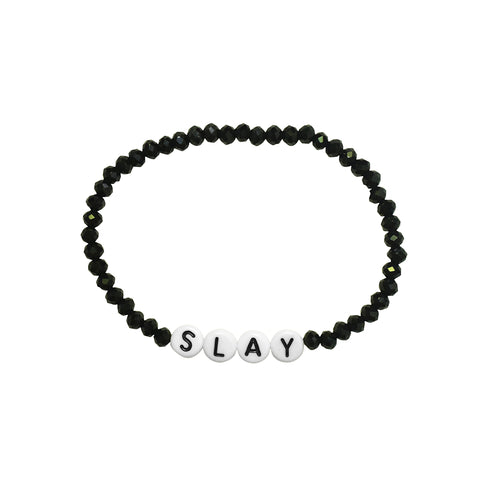 Slay Stretch Black Spinel Bracelet
