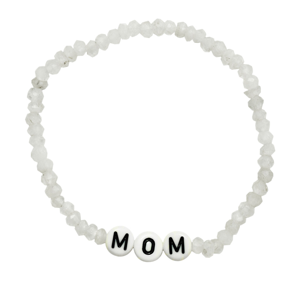 Mom Stretch Moonstone Bracelet