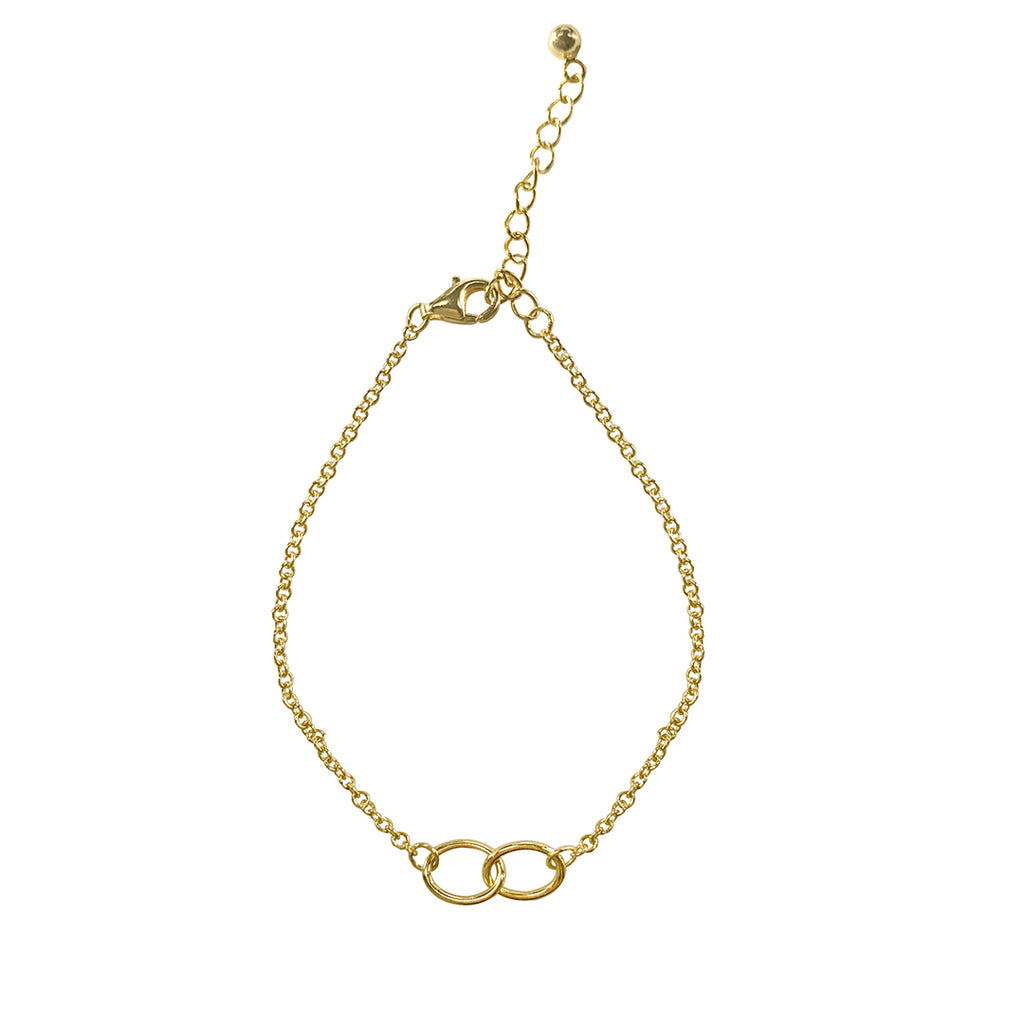 Interlocking Circles Bracelet silver gold