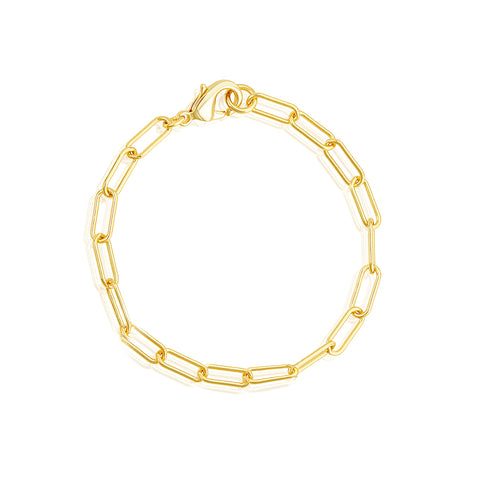 Chunky Paper Clip Chain Bracelet gold