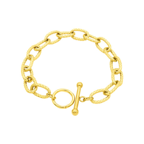 Toggle Link Chain Bracelet gold