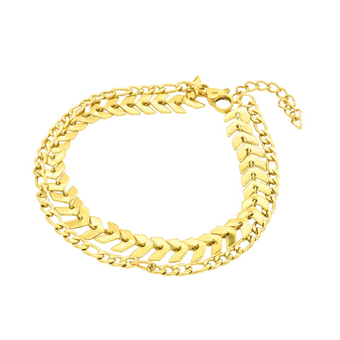 Mixed Chain Bracelet gold