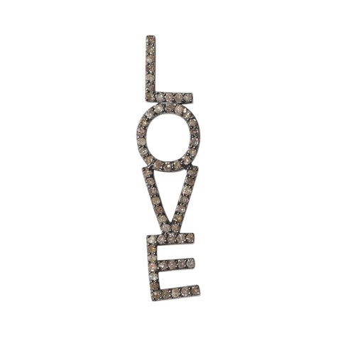 Love Drop Single Stud Earring diamond silver
