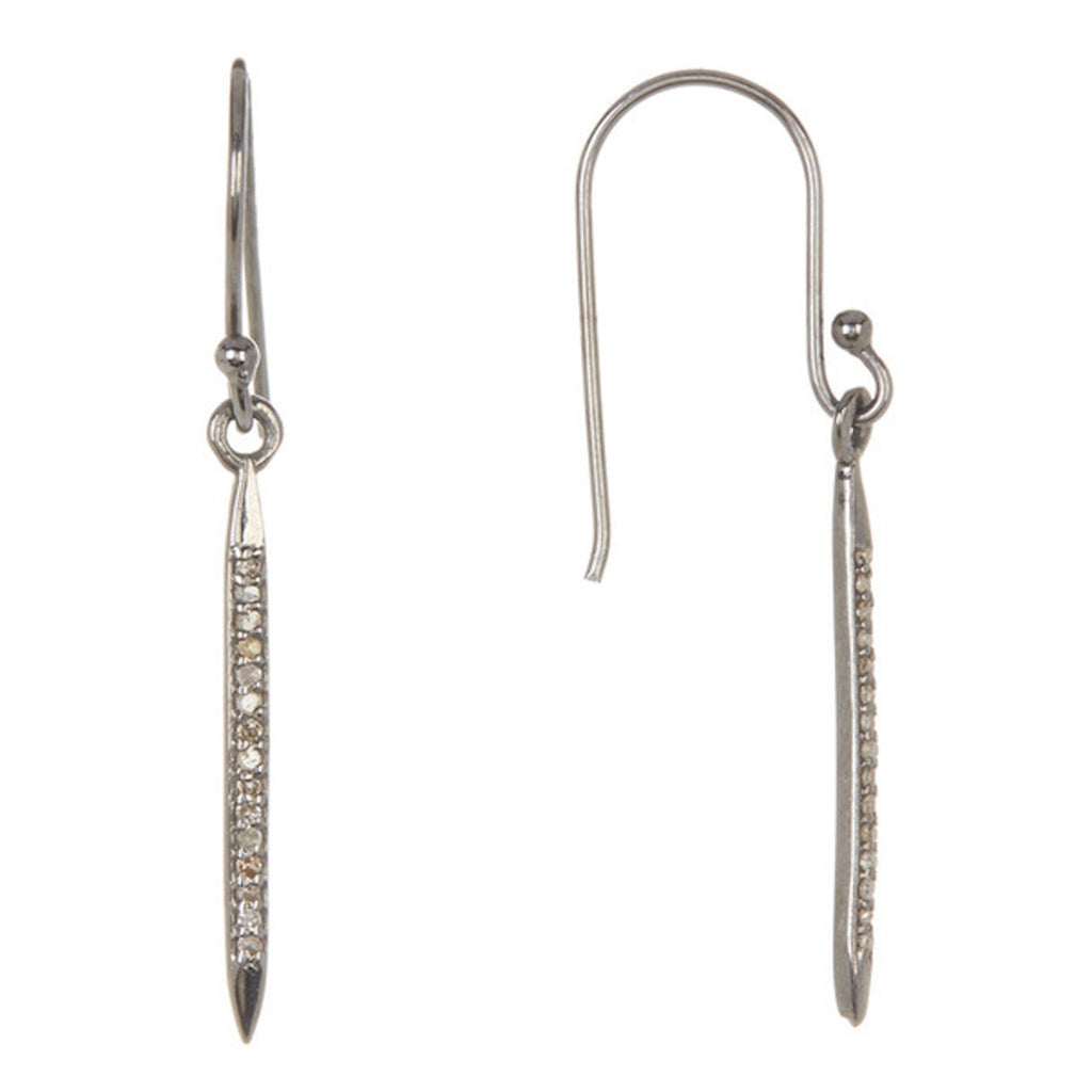 "Mini Diamond 1"" Spike Earrings silver diamond"