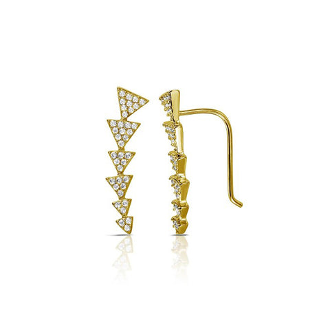 Arrow Climber Earrings silver gold