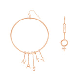 Nasty Woman Mismatched Hoop and Dangle Earring Set