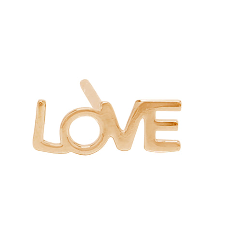 Love Single Stud Earring