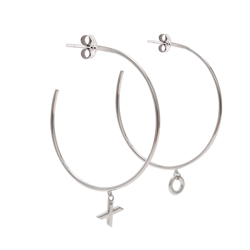 XO Hoop Earrings