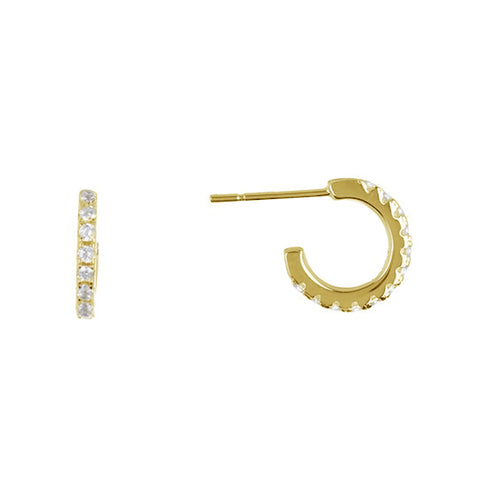 Mini Hoop Earrings silver gold