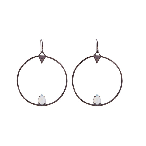 Hoop Earrings moonstone
