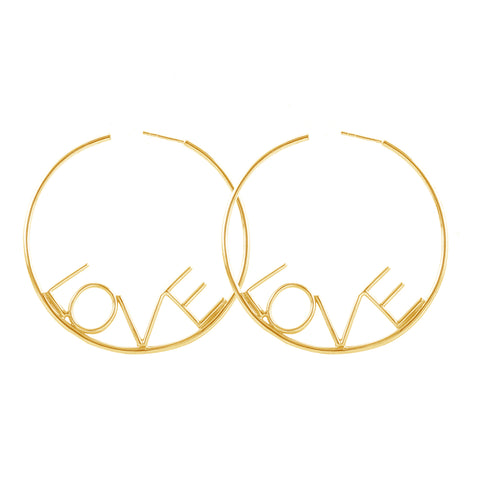 Big Love Hoop Earrings silver gold