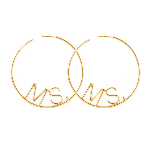 Big Ms. Hoop Earrings silver gold