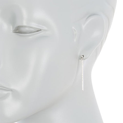 Crystal Linear Drop Earrings silver