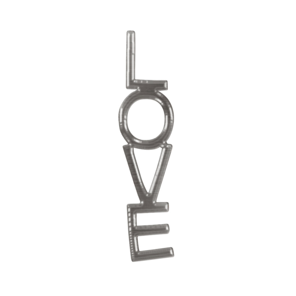 Love Drop Single Stud Earring silver