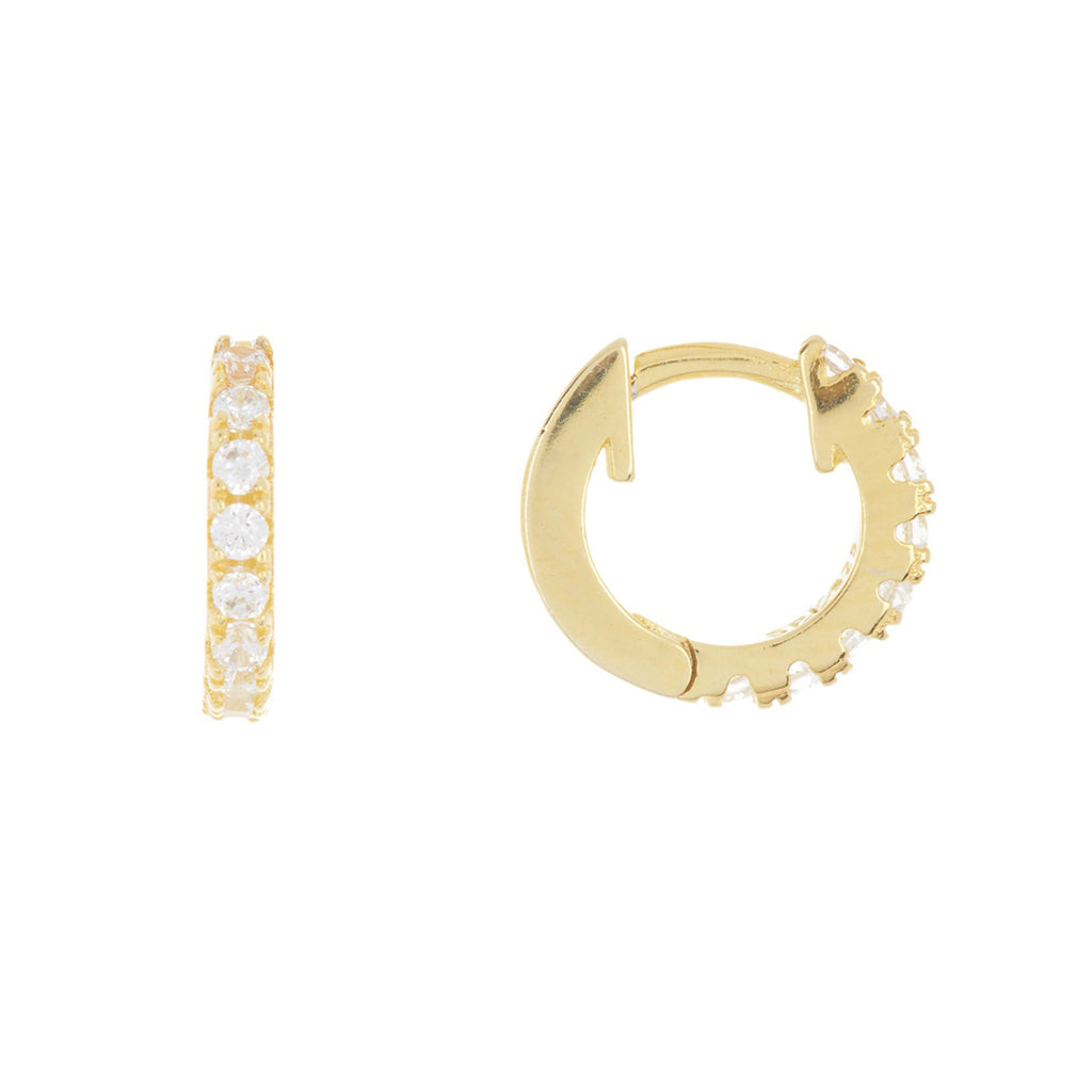 Mini Huggie Hoop Earrings silver gold