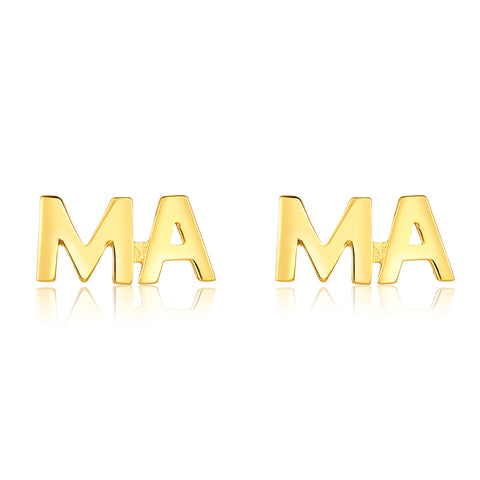 Mama Earring Stud Set gold