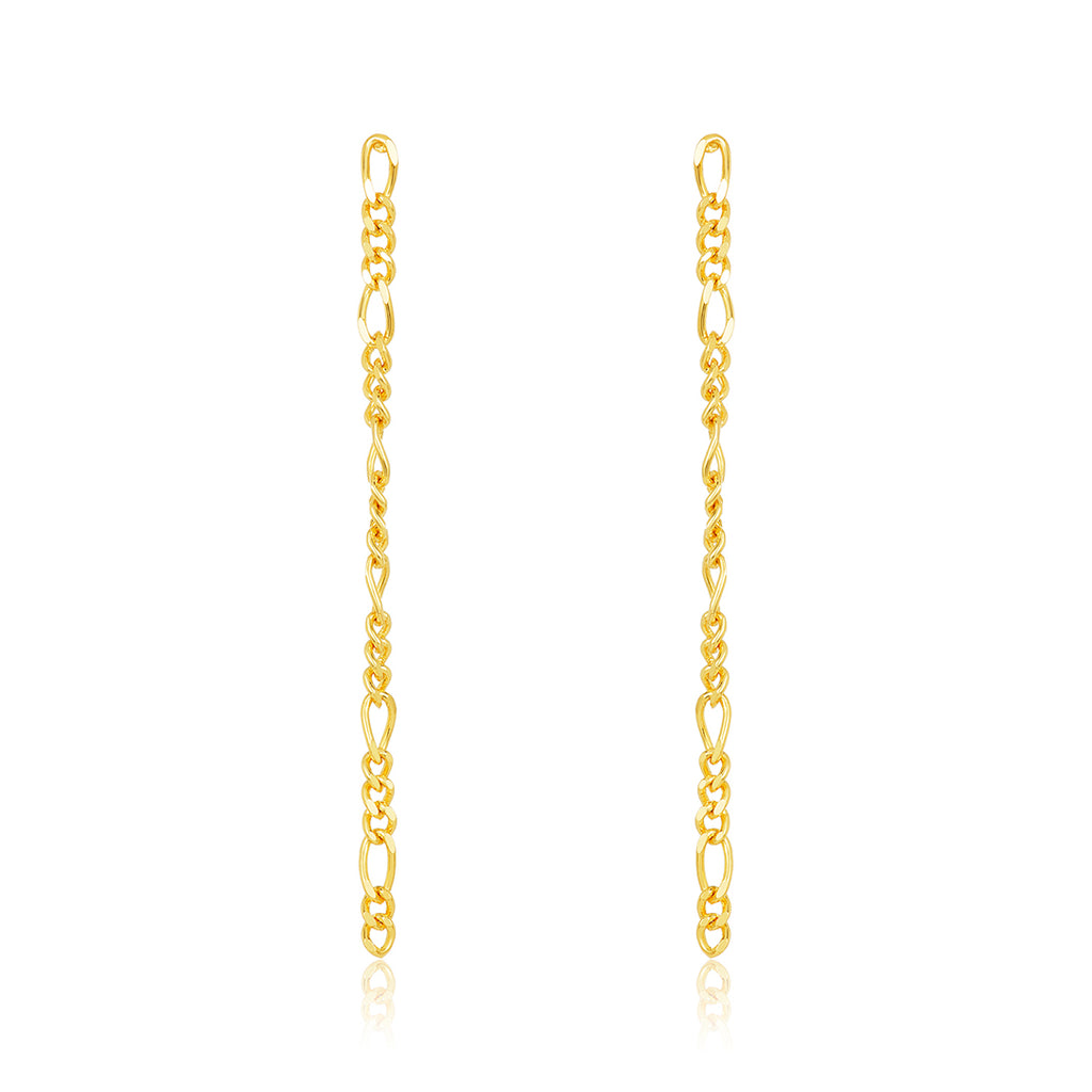 Figaro Chain Drop Earrings gold