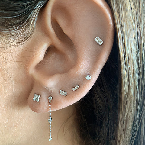Diamond Earring Studs silver